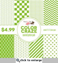 Color Craze Assorted Pattern Pack - Green