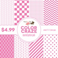 Color Craze Assorted Pattern Pack - Pink