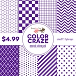 Color Craze Assorted Pattern Pack - Purple