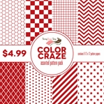 Color Craze Assorted Pattern Pack - Scarlet
