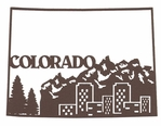 Colorado Outline With Images Laser Die Cut