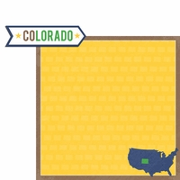 Colorado Travels:  CO Label 2 Piece Laser Die Cut Kit