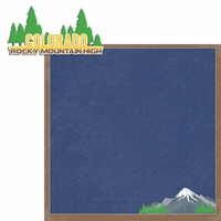 Colorado Travels:  CO Rocky High 2 Piece Laser Die Cut Kit