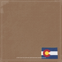 Colorado Travels: CO Vacation 12 x 12 Paper