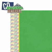 Colorado Travels:  CO Vacation Memories 2 Piece Laser Die Cut Kit