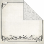 Congrats Grad: Congratulations 12 x 12 Double-Sided Paper#