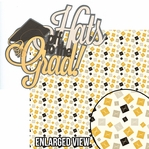 Congrats Grad: Hats Off To The Grad 2 Piece Laser Die Cut Kit