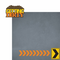 Construction: Getting Dirty 2 Piece Laser Die Cut Kit