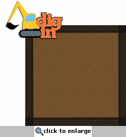Construction Zone: Dig In 2 Piece Laser Die Cut Kit