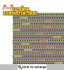 Construction Zone: Under Construction 2 Piece Laser Die Cut Kit