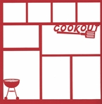 Cookout 12 x 12 Overlay Laser Die Cut