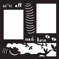Costumes: Cheshire Cat 12 x 12 Overlay Laser Die Cut