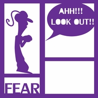 Costumes: Fear 12 x 12 Overlay Laser Die Cut
