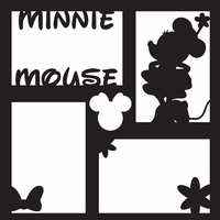 Costumes: Minnie 12 x 12 Overlay Laser Die Cut