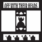 Costumes: Queen Of Hearts 12 x 12 Overlay Laser Die Cut