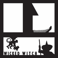 Costumes: Wicked Witch 12 x 12 Overlay Laser Die Cut
