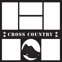 Cross Country 12 x 12 Overlay Laser Die Cut