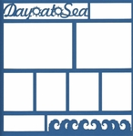 Cruise: Day At Sea 12 x 12 Overlay Laser Die Cut