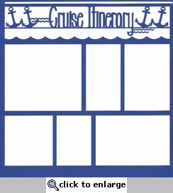 Cruise Itinerary 12 x 12 Overlay Laser Die Cut