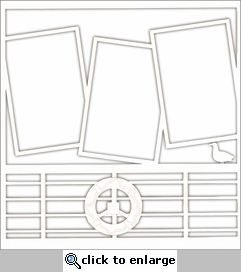 Cruise: Ship Railing 12 x 12 Overlay Laser Die Cut-<font color=red> <b>we &hearts; this</b></font>