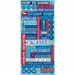 Cruise Stickers: Glitter Word Packaged