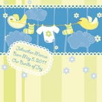 Custom Baby Boy Ducks 12 x 12 Paper