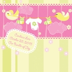 Custom Baby Girl Ducks 12 x 12 Paper
