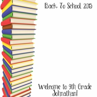 Custom Back to School Books 12 x 12 Paper