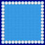 Custom Baseball Scallop 12 x 12 Paper