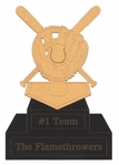 Custom Baseball Trophy Laser Die Cut