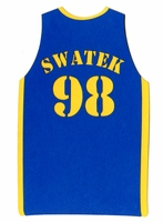 Custom Basketball Jersey Back Laser Die Cut