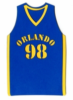 Custom Basketball Jersey Front Laser Die Cut