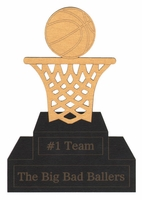 Custom Basketball Trophy Laser Die Cut
