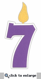 Custom Birthday Number 7 Candle Laser Die Cut