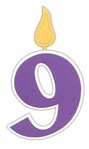 Custom Birthday Number 9 Candle Laser Die Cut
