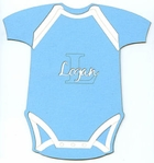 Custom Blue Onesie Laser Die Cut