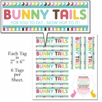 Custom Bunny Bag Tags 12 x 12 Paper