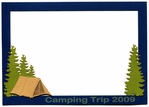 Custom Camping Photo Frame Laser Die Cut