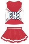 Custom Cheerleading Uniform Laser Die Cut