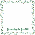 Custom Christmas Lights Frame 12 x 12 Paper