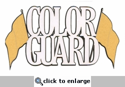 Custom Color Guard Laser Title Cut