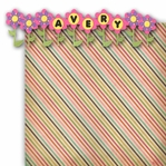 Custom Flower Border 2 Piece Laser Die Cut Kit