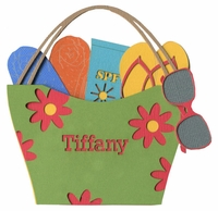 Custom Flower Tote Bag Laser Die Cut