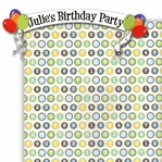 Custom Happy Birthday Border 2 Piece Laser Die Cut Kit