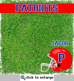 Custom Helmet with Grass 12 x 12 Paper
