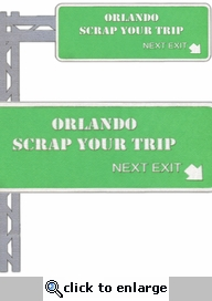 Custom Highway Exit Sign Border Laser Die Cut