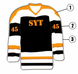 Custom Hockey Jersey Laser Die Cut