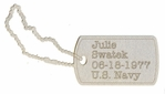 Custom Military Dog Tag Laser Die Cut