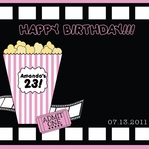 Custom Movie Night Pink 12 x 12 Paper