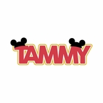 Custom Name with Mouse Ears Laser Die Cut